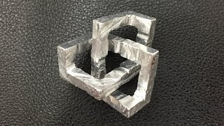 Aluminum Cubic Trefoil Knot (Inspired by Pocket83)