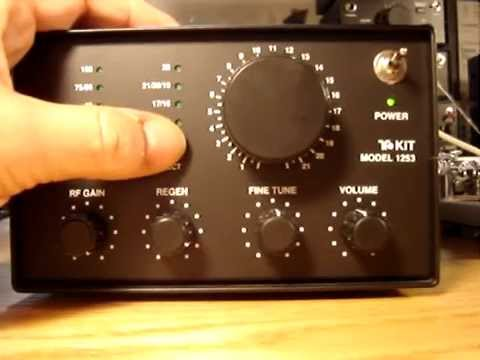 Shortwave Radio Ten Tec Kit T1253 Demonstration