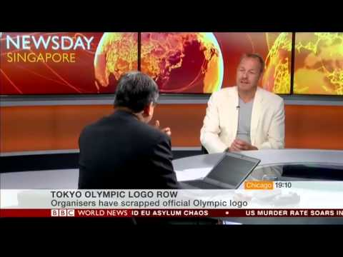 BBC World News - SGK's Steve McGinnes discusses Tokyo 2020 Olympic Logo Debacle