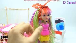 Đồ chơi trẻ em LÀM TÓC 7 SẮC CẦU VỒNG CHO BÚP BÊ KN Channel | DIY COLOR HAIR