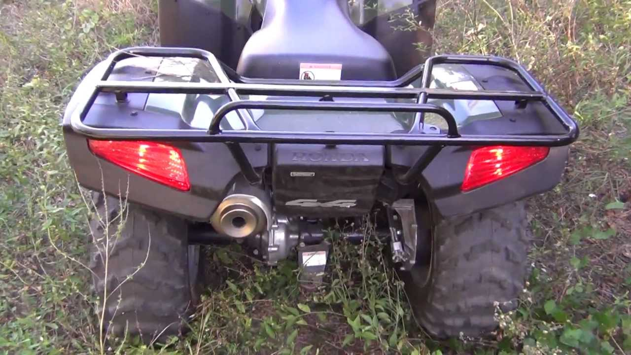 2007 Honda Rancher 4x4 Electric Shift With GPS - YouTube