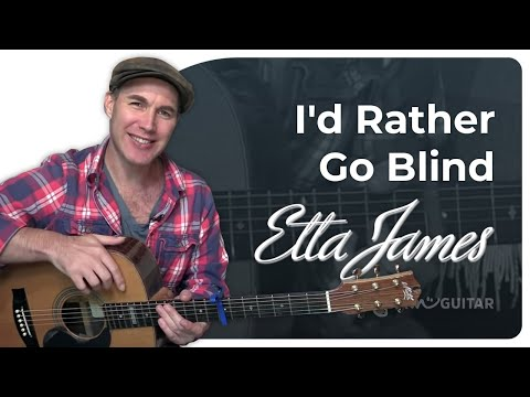 I'd Rather Go Blind - Etta James - Easy Beginner 2 Chord Guitar Lesson (bs-203) How To Play Guitar video