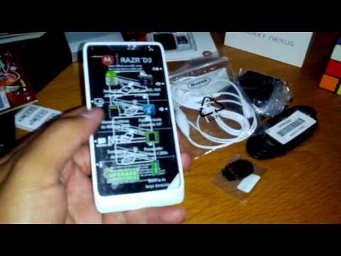 Unboxing Motorola Razr D3 XT919