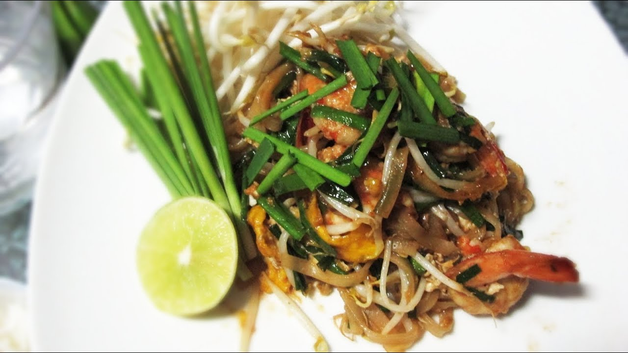 how to make pad thai noodles youtube