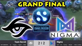SUPER AGGRESSIVE STRAT in EPIC GRAND FINAL ! SECRET vs NIGMA - Game 3,4,5 WePlay! Mad Moon Dota 2