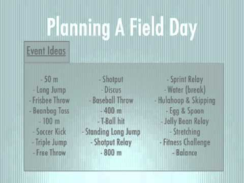 Indoor Games Plan P.e Games Planning a Field