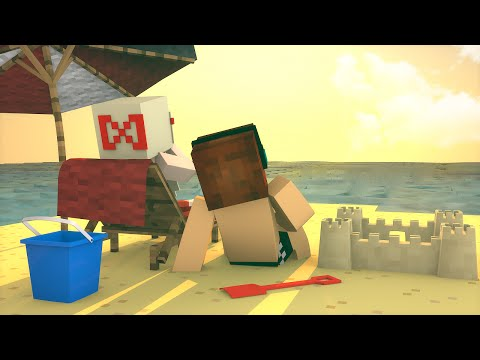 Minecraft Machinima : AUTHENTIC NA PRAIA !! - (Parte 1)