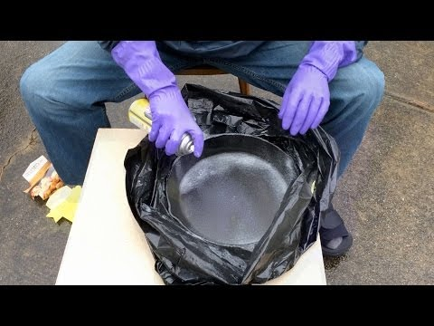 Stripping a Cast Iron Skillet with Easy-Off Oven Cleaner | Plus Seasoning & Maintenance