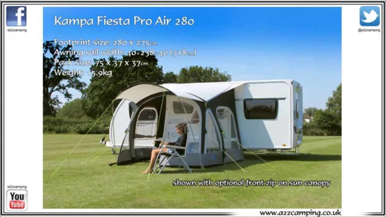 Kampa Fiesta Air Pro 280 Youtube