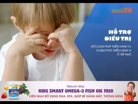 Nature's Way Omega-3 Fish Oil Tri0 - Viên nhai bổ sung DHA, EPA, giúp bé sáng mắt, thông minh