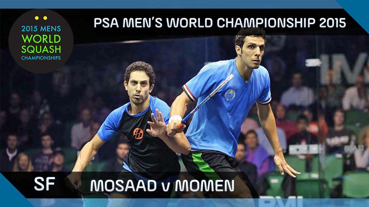 Squash: 2015 PSA Men's World Championship Semi-Final Highlights: Mosaad v Momen
