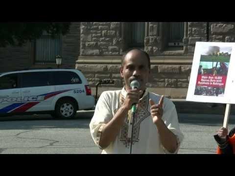 Speech by Br. Aalamgeer Editor of Weekly Shama- Toronto Protest for Rohingya Muslims 25AUG2012