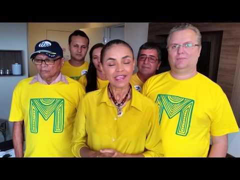 Marina Silva fala na manhã de domingo do 1º turno