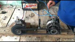 como fazer um carregador de bateria com alternador bem facil