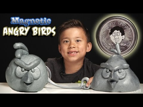 Magnetic ANGRY BIRDS! Crazy Aaron's MAGNETIC THINKING PUTTY from Vat19!