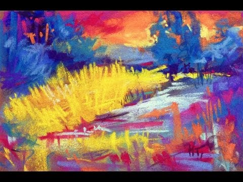 Soft Pastel Painting Demonstration Quot Evening Game Of