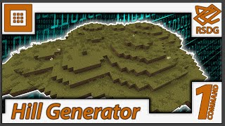 Hill Generator in One-Command! Generate Mountain Ranges!(1.9 vanilla)
