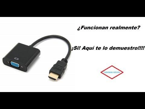 Demostraci ón de funcionamiento. Adaptador HDMI a VGA.