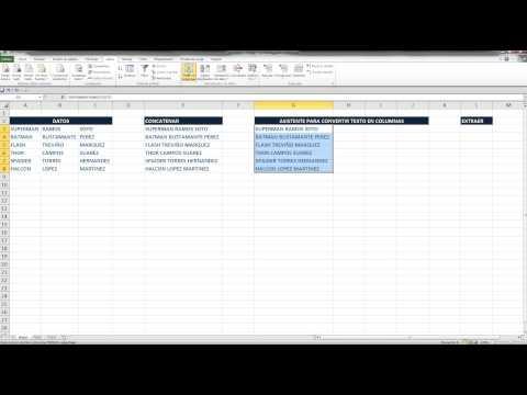 Concatenar y Extraer en Excel. V3