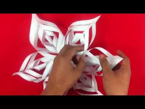 Copo de nieve de papel - Manualidades de origami