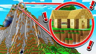 SURVIVING IN A CRAZY CLIFF SIDE MINECRAFT HOUSE!