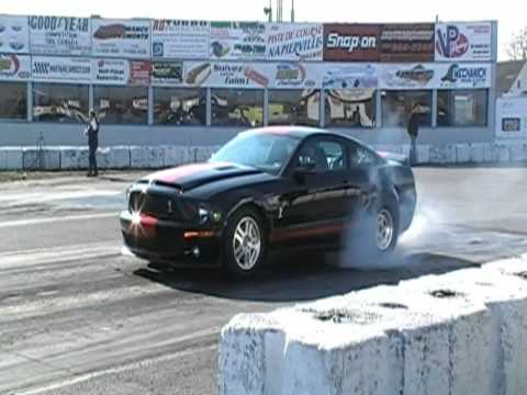 Shelby GT 500 burnout drag compilation Video