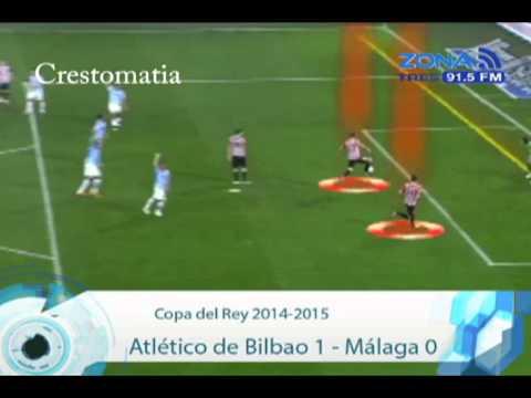 Atlético de Bilbao 1 Málaga 0 Copa del Rey 2014 2015