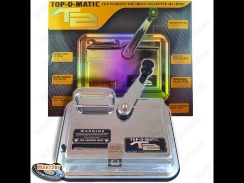 Top-O-Matic T2 Cigarette Making/Roller/Injector Machine Review/Demonstration