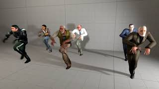 Almost all Half-Life 2 main character dancing to Dance Moves from Fortnite