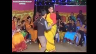 bangladeshi Gaye holud dance at village very very enjoying performance