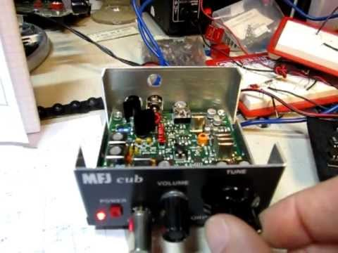 MFJ Cub 40m QRP CW Transceiver circuit walk-through and review, plus bandsweep, ham radio MFJ-9340