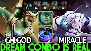 Miracle- Enigma & GH.God Naga Siren Dream Combo is Real 7.21 Dota 2