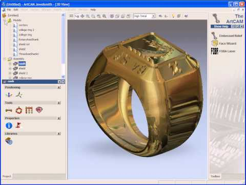 ArtCAM JewelSmith project structure and how to add a 3d relief clipart