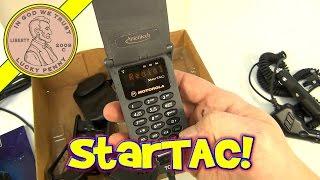 Vintage Motorola StarTAC Flip Style LED Analog Cell Phone, 1995