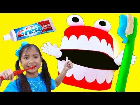 Brush Your Teeth Song | Wendy Pretend Play Learning How to Brush Teeth Nursery Rhymes & Kid Song