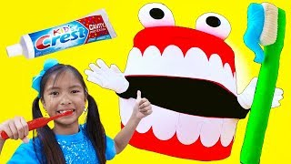 Brush Your Teeth Song | Wendy Pretend Play Learning How to Brush Teeth Nursery Rhymes & Kid Song
