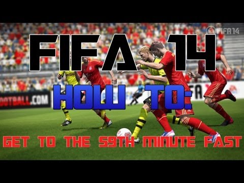 FIFA 14 Web app: How to get to the 59th minute fast