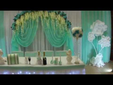 оформление мятной свадьбы в ресторане