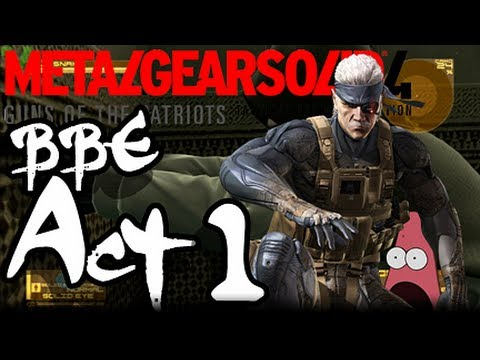 Metal Gear Solid 4 Big Boss Emblem Walkthrough W  Commentary Act 1 video