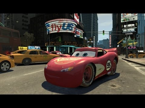 Grand Theft Auto IV - Cars Lightning McQueen (MOD) HD