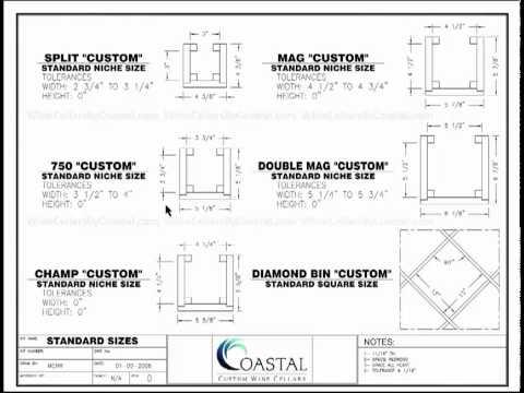 wine rack dimensions plans