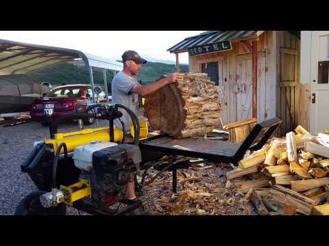 Homemade log splitter with new log lift