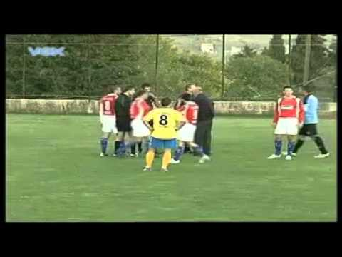 Referee Takes A Beating In Croatia (Rudar Siveric - Sabunjar)