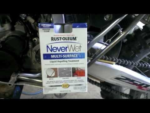 Rust-Oleum NeverWet Review - Motorcycle Fender Application