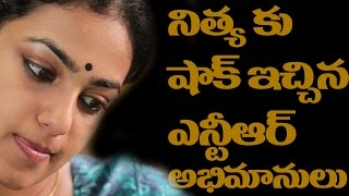 Nithya Menon Shocked by Jr NTR Fans at janatha Garage Audio Function||#TopTeluguTV