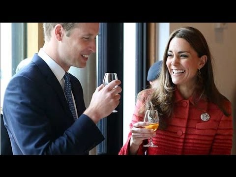 Duke and Duchess of Cambridge enjoy a wee dram