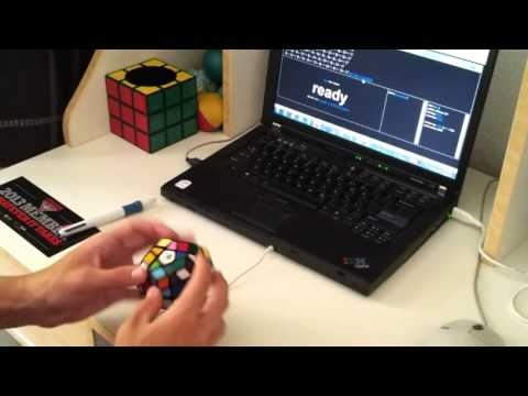 Megaminx solved in 44.82 seconds (Or is it 46.05?)