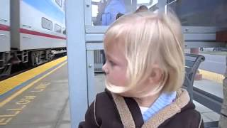 Little Girl Has Delightful Reaction to Riding a Train for the First Time   Cute Videos