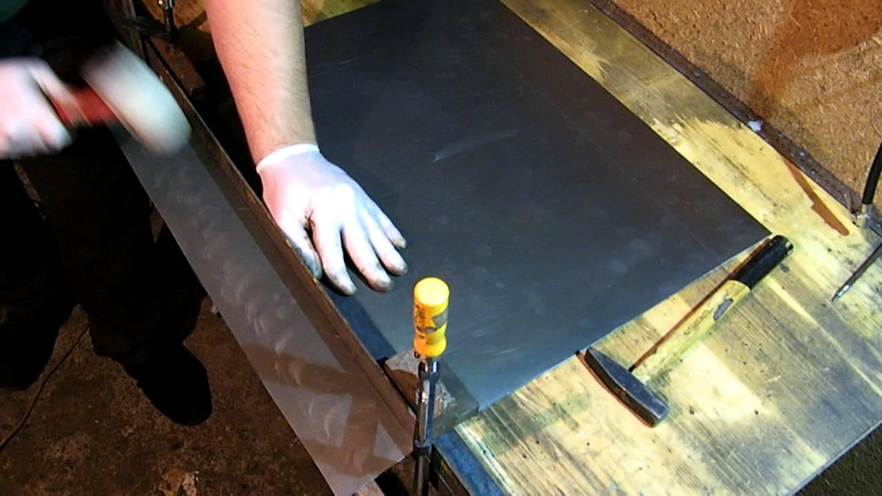 Как загибать оцинкованный лист своими руками 38