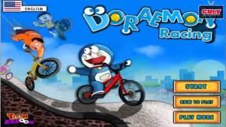 Trò chơi Doremon và Nobita đua xe đạp   Cu lỳ chơi game #3   Doraemon bicycle racing game